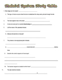 Skeletal System Test with Study Guide and Answer Key