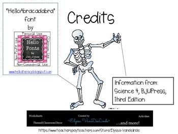 Skeletal System Worksheet (BJU Press)