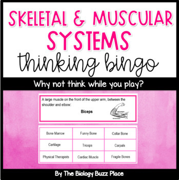Skeletal System and Muscular System Thinking Bingo (PDF)