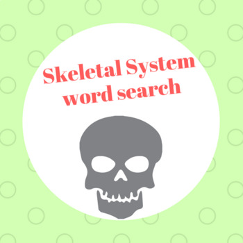 Skeletal System word search