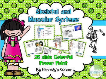 Skeletal and Muscular System Power Point and ELA Unit aligned to Common Core