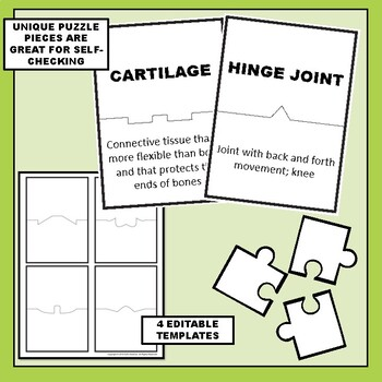 Skeletal and Muscular Systems Science Vocabulary Puzzles