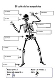 Skeleton Body Parts with Spanish Song