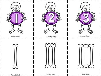 Skeleton Bones Tally Marks Number Matching