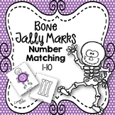 Skeleton Bones Tally Marks Number Matching