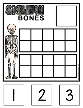 Skeleton Bones Ten-Frame Cards