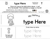 Skeleton Boy - Editable Name Booklet w/ Beginning Letter F