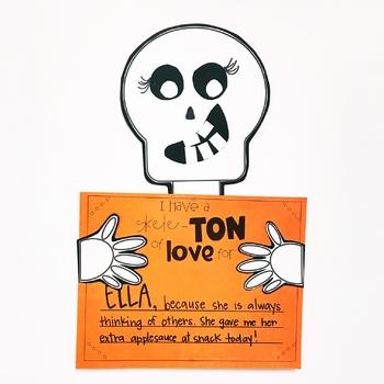 Skeleton Craft {Crafty Compliments October} Halloween Craft