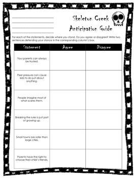 Skeleton Creek Anticipation Guide