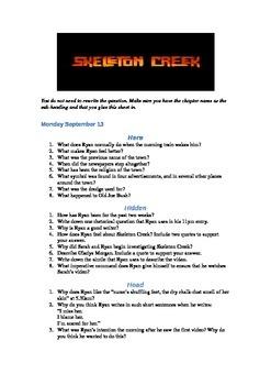 Skeleton Creek comprehension questions