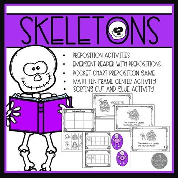 Skeleton Emergent Reader with Literacy and Math Materials