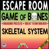 GAME OF BONES Escape Room (Breakout)~SKELETON~Biology/Anatomy -Digital Locks