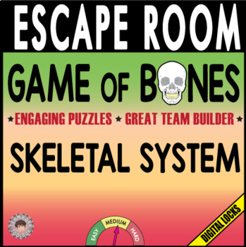 GAME OF BONES Escape Room (Breakout)~SKELETON~Biology/Anatomy -Digital Locks