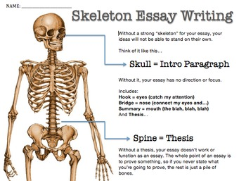 Skeleton Essay Any Literature Essay Modeling Scaffolding