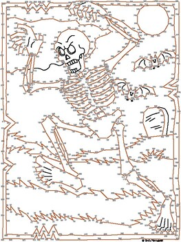 Skeleton Extreme Dot-to-Dot / Connect the Dots