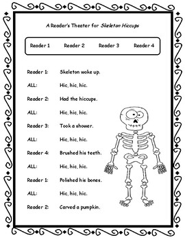 Skeleton Hiccups  --  Sequencing, Reader's Theater, Text Evidence, Comprehension