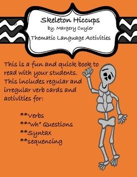Skeleton Hiccups Fun Thematic Grammar/Language Activities