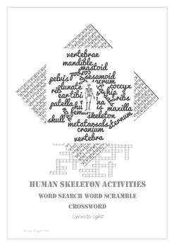 Skeleton: Human Biology, Word Search, Word Scramble, Crossword