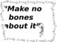 Skeleton Idioms