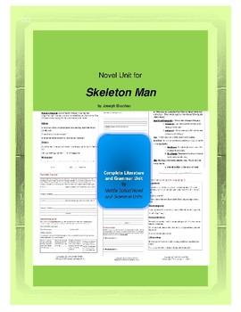 Skeleton Man Complete Literature and Grammar Unit