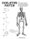 Skeleton Match: Head, Shoulders, Knees and Toes