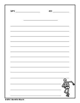 Intermediate 2 Page Halloween Writing Paper Combo