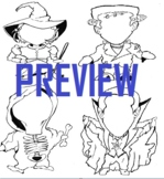 Skeleton Reaper, Frankenstein, Dracula, Witch Halloween Co