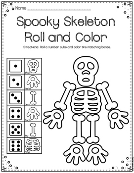 Skeleton Roll and Color