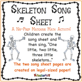Skeleton Math - Counting Sets Song Sheet