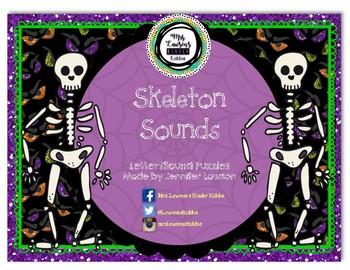 Skeleton Sounds - Letter/Sound Puzzles
