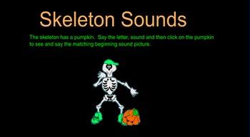 Skeleton Sounds Smartboard