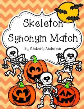 Halloween: Skeleton Synonyms Match