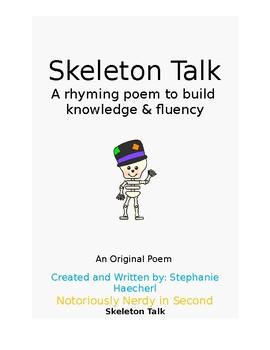 Skeleton Talk Poem: Rhyming Poem About Bones