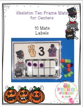 Skeleton Ten Frame Mats for Centers