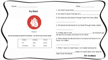 Skeleton and Organs Readings and Worksheets