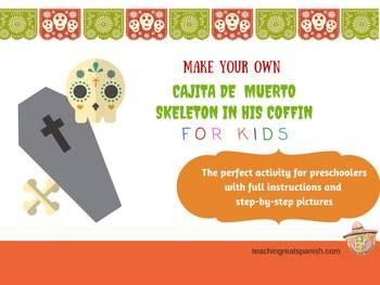 Skeleton in Coffin for Day of the Dead Spanish for Kids