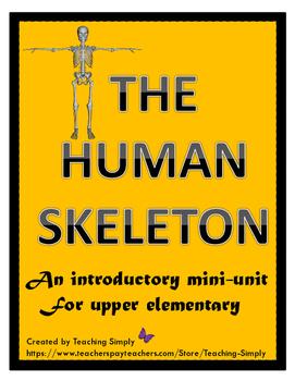 Skeletons Mini Unit -  informational passages, task cards