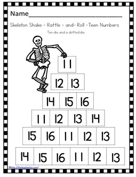 Kindergarten - Special Education - Halloween -Skeletons-Science, Math & Literacy