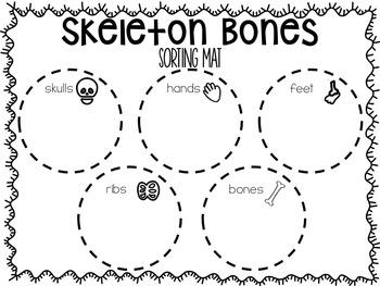 Halloween Math Activity - Dem Skeleton Bones
