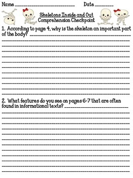 Skeletons Inside and Out Comprehension Checkpoint #1