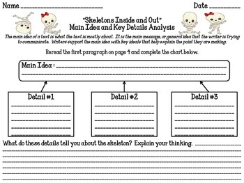 Skeletons Inside and Out Reading Analysis Lessons 1-2
