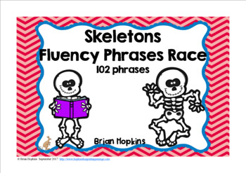 Skeletons Sight Word Fluency Phrases Race