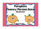 Pumpkins Sight Word Fluency Phrases Race