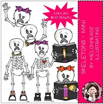 Skeletons clip art - Mini - Melonheadz Clipart