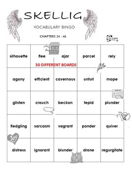 Skellig Vocabulary Bingo