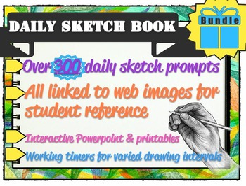 Interactive Sketch List w/ Web Links: Daily Drawing Activi