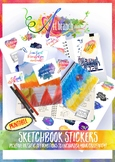 Sketch Book Art Stickers