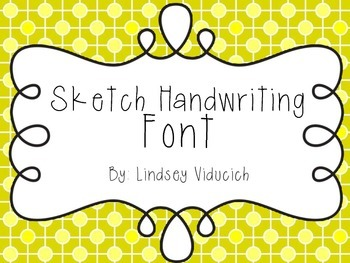 Sketch Handwriting Font