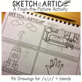 Sketch It Artic: A Finish-the-Picture Activity! No Prep