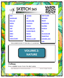Interactive Sketch List: Daily Sketch/Drawing/Art Activity V2of10:Nature